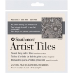 "Strathmore® Toned Gray Sketch Artist Tiles: Black/Gray, Tile, 4"" x 4"", Tile, 80 lb, (model ST105-978), price per pack"