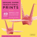 "Tuttle 8.25"" Origami Paper Traditional Prints: Sheet, 8 1/4"", Origami, (model T838030), price per pack"