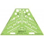 Alvin® Isometric Piping Template: Green, Architectural, (model TD1143), price per each