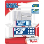Pentel® Hi-Polymer® PENTEL® Hi-Polymer® Eraser Set: White/Ivory, Manual, (model ZEH2510BP), price per set