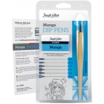 William Mitchell Joseph Gillott Manga Dip Pen Set: Nibs Included, Pen Holder, Assorted, Drawing Nib, Pen Holder & Nib Sets, (model WM35825), price per set