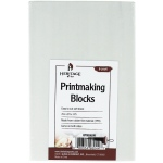 "Heritage Arts™ Traditional White Printmaking Blocks 6-Pack: White/Ivory, Double-Sided, No, 4"" x 6"", 1/4"", Block, (model HPMB46W), price per pack"