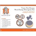 Mason Row Monogram Stamp Set with Wood Block