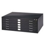 "Safco Steel Flat File: 5 Drawers, Black, 16 1/2"" x 53 3/8"" x 41 3/8"""