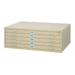 "Safco Steel Flat File: 5 Drawers, Sand, 16 1/2"" x 53 3/8"" x 41 3/8"""