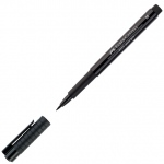 Faber-Castell® PITT® Artist Pen Black Medium: Black/Gray, India, Pigment, Medium Nib, (model FC167399), price per each