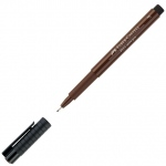 Faber-Castell® PITT® Artist Pen Sepia Fine: Brown, India, Pigment, Fine Nib, (model FC167275), price per each