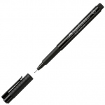 Faber-Castell® PITT® Artist Pen Black Superfine: Black/Gray, India, Pigment, Super Fine Nib, (model FC167199), price per each
