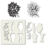 Claritystamps - Bouquet Stamps & Vase Stencil Set