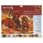 "Reeves™ Large Acrylic Painting By Numbers Set Resting Labrador: 12"" x 15 1/2"""