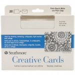 "Strathmore® 5 x 6.875 Palm Beach/Plain Edge Creative Cards 20-Pack: Blue, White/Ivory, Envelope Included, Card, 20 Cards, 5"" x 6 7/8"", 80 lb"