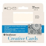 "Strathmore® 3.5 x 4.875 Ivory/Deckle Creative Cards: White/Ivory, Envelope Included, Card, 10 Cards, 3 1/2"" x 4 7/8"", 80 lb"
