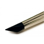 Colour Shaper® Black Tip Angle Chisel Brush #10: Silicone, Angle Chisel, Firm