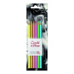 Conte™ Pastel Pencils 6-Color Set Bright Hues: Multi, Pencil