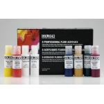 Golden® Fluid Acrylic 8-Color Set: Multi, Bottle, .5 oz, 15 ml, Acrylic, (model 0000918-0), price per set
