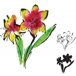 Rubbernecker Stamps - Lilies Stamp Set