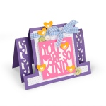 Sizzix - Framelits Die Set 14PK - Card - Kind Sentiments Step-Ups by Stephanie Barnard