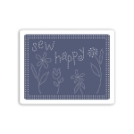 Sizzix - Textured Impressions Embossing Folder - Sew Happy by Eileen Hull
