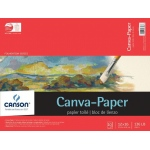 "Canson® Foundation Series Canva-Paper™ 12"" x 16"" 10-Sheet Pad: Fold Over, White/Ivory, Pad, 10 Sheets, 12"" x 16"", (model C100510842), price per 10 Sheets pad"