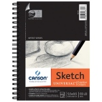"Canson® Artist Series Universal™ 5.5"" x 8.5"" Sketch Pad: Wire Bound, White/Ivory, Pad, 100 Sheets, 5 1/2"" x 8 1/2"", (model C100510850), price per 100 Sheets pad"
