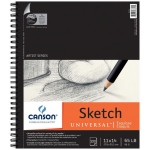 "Canson® Artist Series Universal™ 11"" x 14"" Sketch Pad: Wire Bound, White/Ivory, Pad, 100 Sheets, 11"" x 14"", Fine"