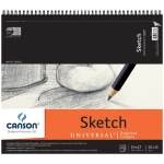 "Canson® Artist Series Universal™ 14"" x 17"" Sketch Pad: Wire Bound, White/Ivory, Pad, 100 Sheets, 14"" x 17"", Fine"