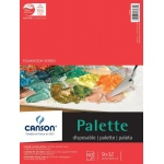 "Canson® Foundation Series 9"" x 12"" Disposable Palette Sheet Pad: Fold Over, White/Ivory, Pad, 40 Sheets, 9"" x 12"", (model C100510953), price per 40 Sheets pad"