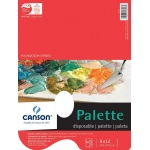 "Canson® Foundation Series 9"" x 12"" Disposable Palette Sheet Pad: Fold Over, White/Ivory, Pad, 40 Sheets, 9"" x 12"""