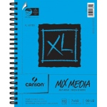 "Canson® XL® 7"" x 10"" Mix Media Pad (Side Wire): Wire Bound, White/Ivory, Pad, 60 Sheets, 7"" x 10"""