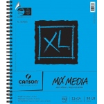 "Canson® XL® 11"" x 14"" Mix Media Pad (Side Wire): Wire Bound, White/Ivory, Pad, 60 Sheets, 11"" x 14"", (model C100510929), price per 60 Sheets pad"