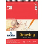 "Canson® Foundation Series 11"" x 14"" Foundation Drawing Pad: Wire Bound, White/Ivory, Pad, 30 Sheets, 11"" x 14"", Fine, (model C100510979), price per 30 Sheets pad"