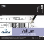 "Canson® Artist Series 14"" x 17"" Vellum Sheet Pad: Fold Over, White/Ivory, Pad, 50 Sheets, 14"" x 17"", Smooth"