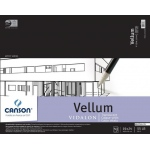 "Canson® Artist Series 19"" x 24"" Vellum Sheet Pad: Fold Over, White/Ivory, Pad, 50 Sheets, 19"" x 24"", Smooth, (model C100510986), price per 50 Sheets pad"