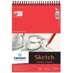 "Canson® Foundation Series 9"" x 12"" Wire Bound Sketch Pad: Wire Bound, White/Ivory, Pad, 50 Sheets, 9"" x 12"", Smooth"
