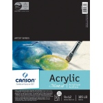 "Canson® Montval® 9"" x 12"" Acrylic Sheet Pad: Fold Over, White/Ivory, Pad, 10 Sheets, 9"" x 12"", Acrylic, (model C100511035), price per 10 Sheets pad"