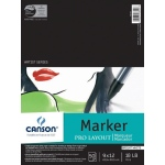 "Canson® Artist Series 9"" x 12"" Marker Sheet Pad: Fold Over, White/Ivory, Pad, 50 Sheets, 9"" x 12"", (model C100511047), price per 50 Sheets pad"