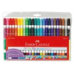 Faber-Castell® DuoTip Washable 24 Marker Set: Double-Ended, Water-Based, Washable, (model FC153024), price per set