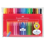 Faber-Castell® GRIP Washable 20 Color Marker Set: Washable, (model FC155320), price per set