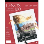 "Lenox 100 Cotton Printing & Drawing Paper Pad 9"" x 12"": White/Ivory, Pad, 15 Sheets, 9"" x 12"", Medium, Drawing, (model L21-LEN250WH912), price per 15 Sheets pad"