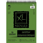 "Canson® XL® 9"" x 12"" Recycled Sketch Pad (Top Wire): Wire Bound, White/Ivory, Pad, 100 Sheets, 9"" x 12"", Medium, Sketching, 50 lb, (model C400026747), price per 100 Sheets pad"