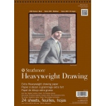 "Strathmore® 400 Series 9"" x 12"" Heavyweight Drawing Pad: Wire Bound, White/Ivory, Pad, 24 Sheets, 9"" x 12"", Medium, Drawing, 100 lb, (model ST400-209), price per 24 Sheets pad"