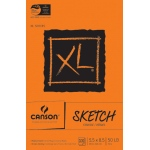 "Canson® XL® 5 1/2"" x 8 1/2"" Sketch Pad (Fold Over): Wire Bound, White/Ivory, Pad, 100 Sheets, 5 1/2"" x 8 1/2"", Medium, (model C100510938), price per 100 Sheets pad"