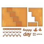 Spellbinders - Lets Party - Card Creator - Happy Days Step Card Dies