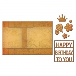 Spellbinders - Lets Party - Card Creator - Decorated Birthday Step Card Dies