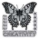 Sizzix - Tim Holtz Alterations - Framelits Die Set - 4 Pack with Stamps - Limitations