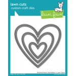 Lawn Fawn - Lawn Cuts - Stitched Heart Stackables Dies