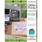 Glitter Prints - Inkjet Printable Glitter Paper - 8.5x11 Assorted