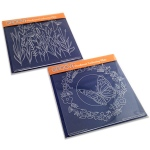 Claritystamp - Butterfly Wreath & Meadow Grasses Groovi Plates Set