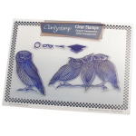 Claritystamp - Wise Old Owls Stamp Set with Masks