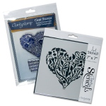 Claritystamp - Garden Heart Stamps and Stencil Set